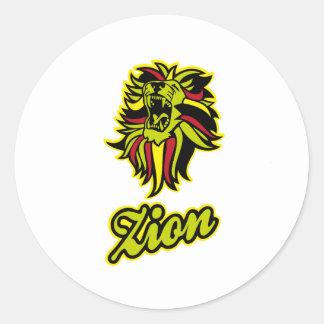 Zion. Iron Lion Zion HQ Edition Color Classic Round Sticker