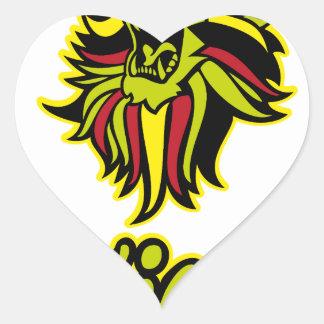 Zion. Iron Lion Zion HQ Edition Color Heart Sticker