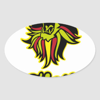 Zion. Iron Lion Zion HQ Edition Color Oval Sticker