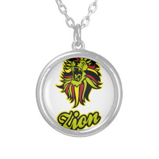 Zion. Iron Lion Zion HQ Edition Color Silver Plated Necklace