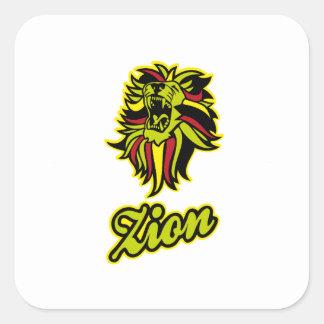 Zion. Iron Lion Zion HQ Edition Color Square Sticker