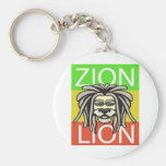 ZION LION BASIC ROUND BUTTON KEYCHAIN