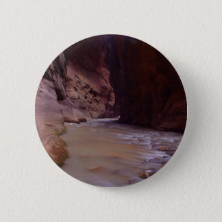 Zion Narrows Streams Virgin River 2 Inch Round Button