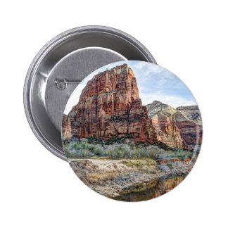 Zion National Park Angels Landing - Digital Paint 2 Inch Round Button