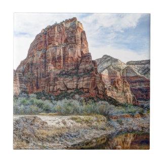 Zion National Park Angels Landing - Digital Paint Tile
