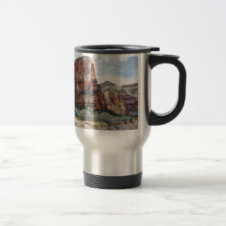 Zion National Park Angels Landing - Digital Paint Travel Mug
