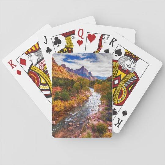 Zion National Park Autumn Splendour Playing Cards