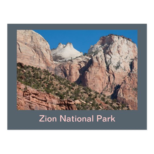 Zion National Park Cliffs Postcard