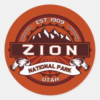 Zion National Park Crimson Classic Round Sticker