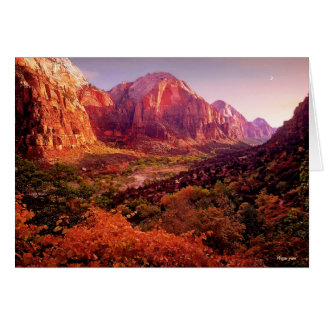 Zion National Park in Autumn Card