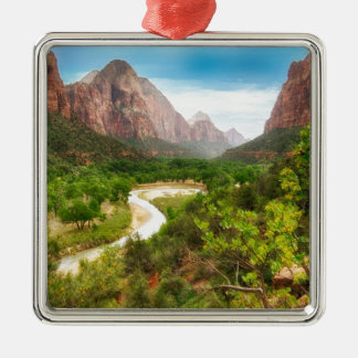 Zion National Park Metal Ornament