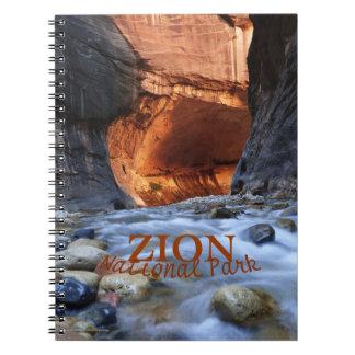 Zion National Park Notebook, Zion Narrows Spiral Notebook