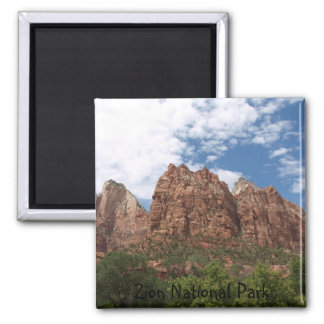 Zion National Park Square Magnet