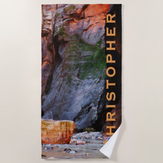 Zion National Park the Narrows Beach Towel