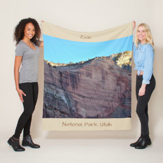 Zion National Park Utah Fleece Blanket