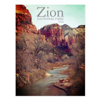Zion National Park Utah Landscape Postcard