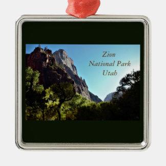 Zion National Park Utah Metal Ornament