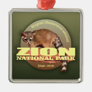 Zion NP (Ringtail) WT Metal Ornament