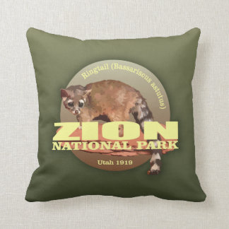 Zion NP (Ringtail) WT Throw Pillow