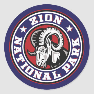 Zion Ram Circle Classic Round Sticker