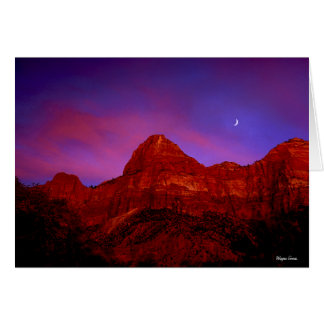 Zion Ridge at Twilight - Zion National Park, Utah Card