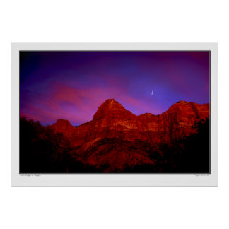 Zion Ridge at Twilight - Zion National Park, Utah Poster