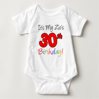 Zio's 30th Birthday Baby Bodysuit