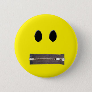 Zip It Smile 2 Inch Round Button