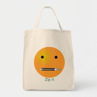 Zip It Smiley Face Emoticon