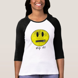 Zip It Smiley Face T-Shirt