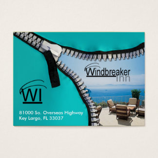 Zip It Up Business Card template (hotel)