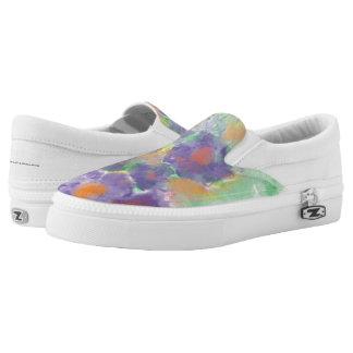 Zip Slip One Purple Flower Slip-On Sneakers