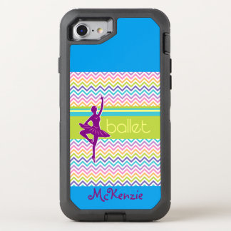 Zip Zag Ballet OtterBox Defender iPhone 8/7 Case