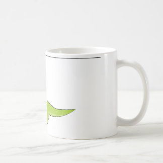 Zipline Rider Stick Figure Icon Coffee Mug