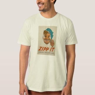 Zipp it! Careless talk costs lives! - T-shirts