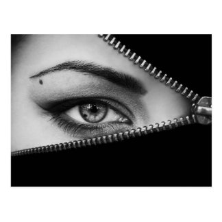 Zipped Eye Postcard