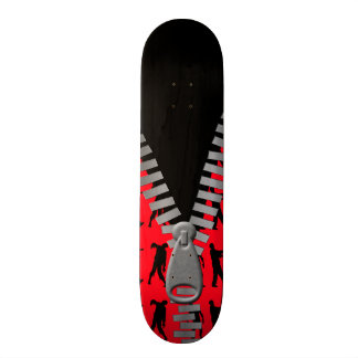 Zipped Up Zombies Everywhere Skate Board Deck