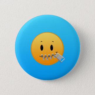 Zipper Emoji 2 Inch Round Button
