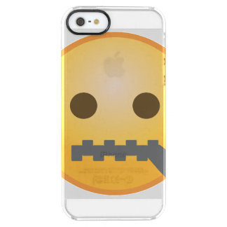 Zipper Emoji Clear iPhone SE/5/5s Case