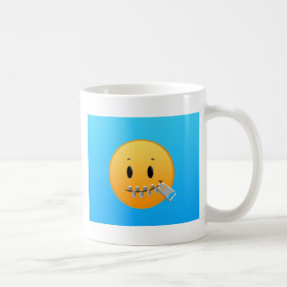 Zipper Emoji Coffee Mug