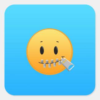 Zipper Emoji Square Sticker