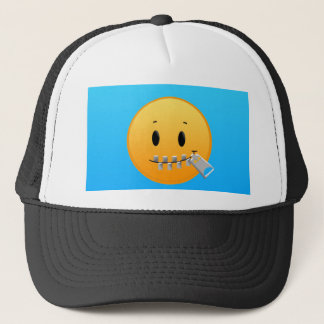 Zipper Emoji Trucker Hat