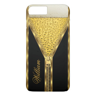 Zipper Gold Beer Drink Black and Gold iPhone 7 Plus Case