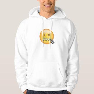 Zipper-Mouth Face Emoji Hoodie