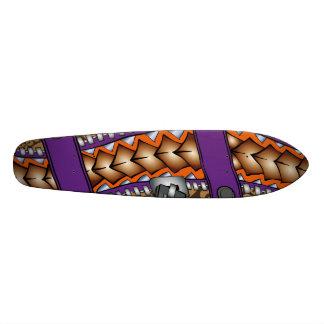 Zipper: Polynesian tattoo graphic. Skate Deck