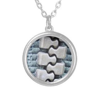 Zipper Silver Plated Necklace