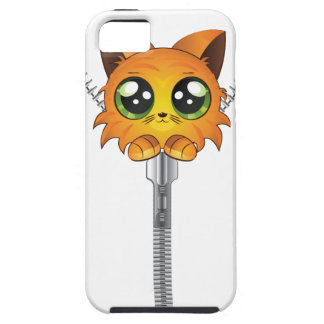Zipper with red kitten iPhone 5 covers
