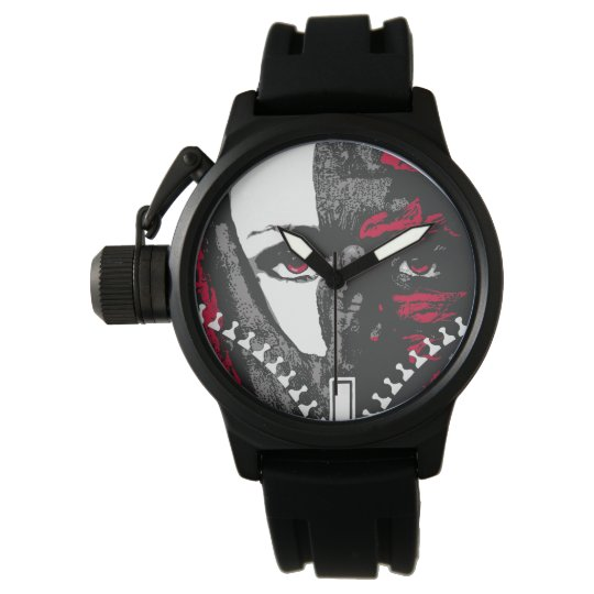 Zipper wrist watch