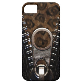 Zippered Leopard Print Fur iPhone 5 Case