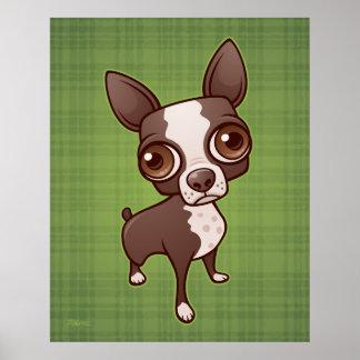 Zippy the Boston Terrier Poster